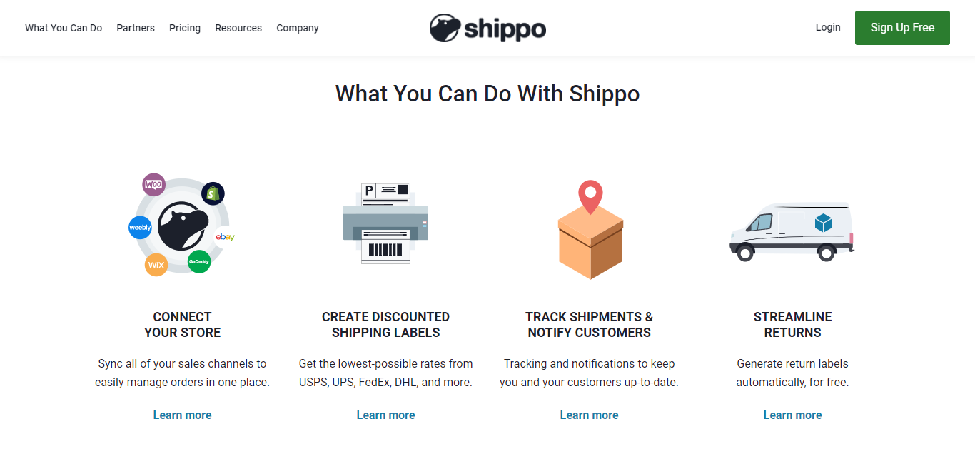 Shippo Key Features