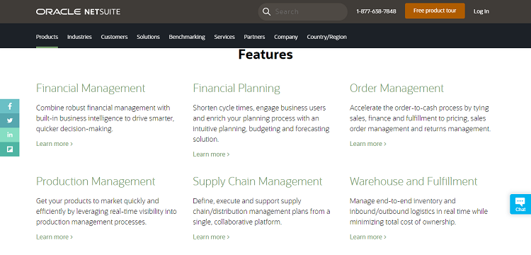 NetSuite features