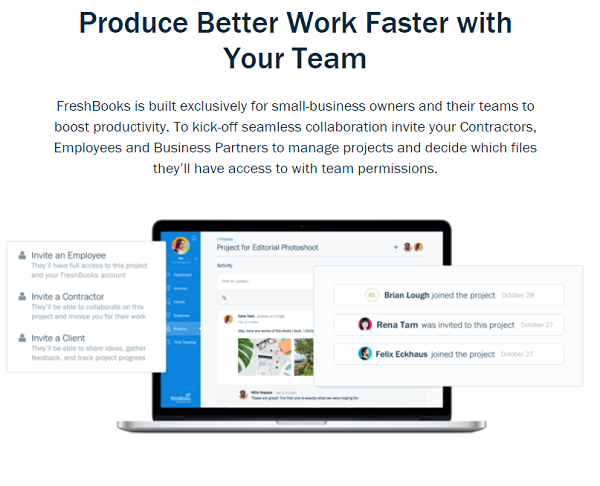 freshbooks Project Management