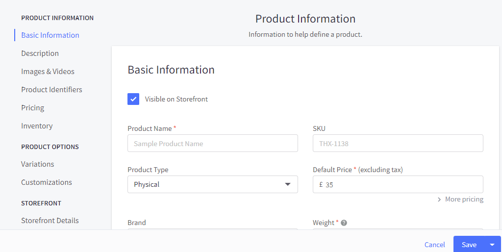 bigcommerce adding products