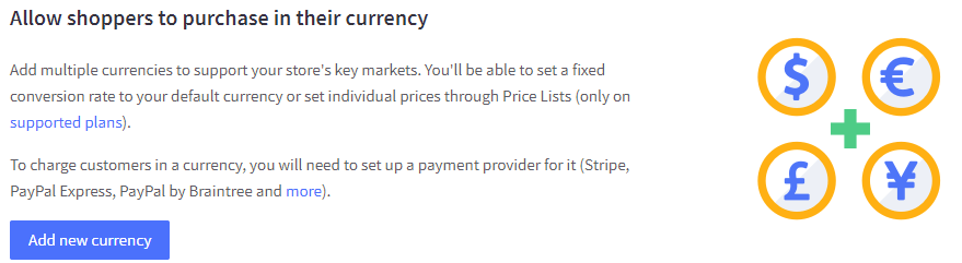 bigcommerce multi currency