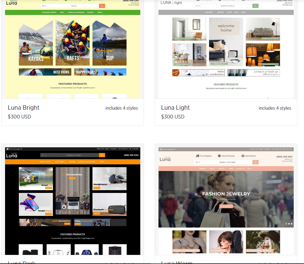 The Best BigCommerce Themes top Theme Luna