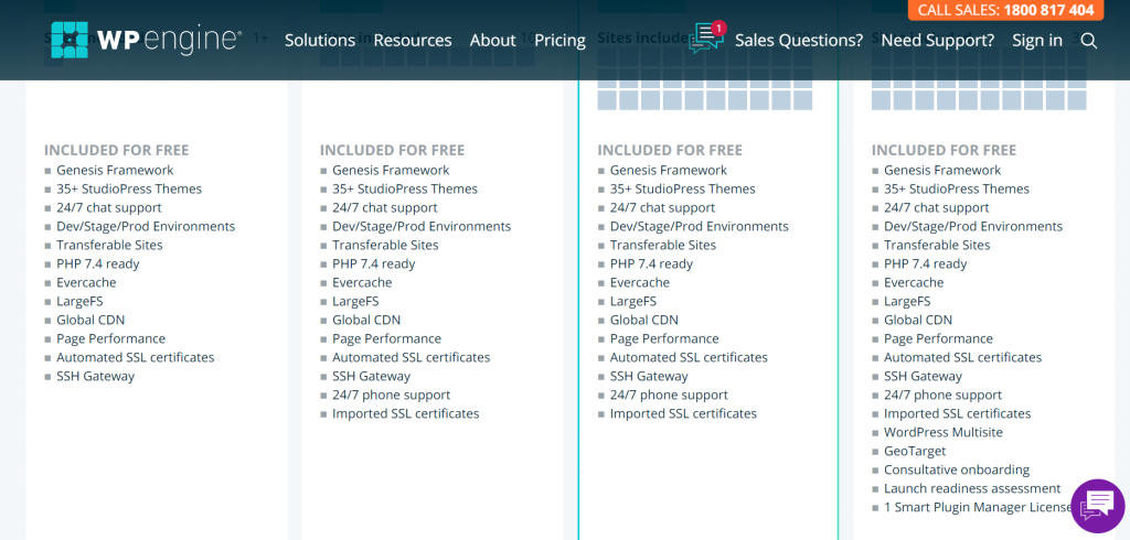 WPEngine provides some free features within its plans, this screenshot is to show readers.