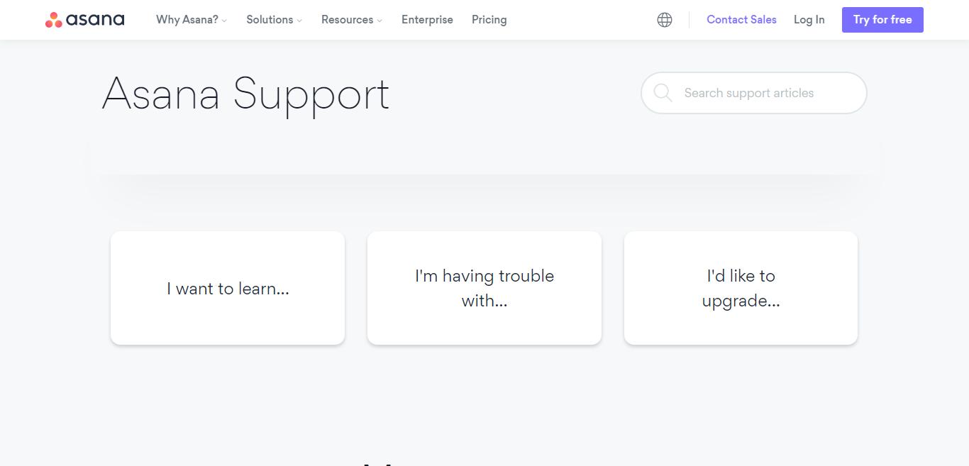 Asana Customer Support