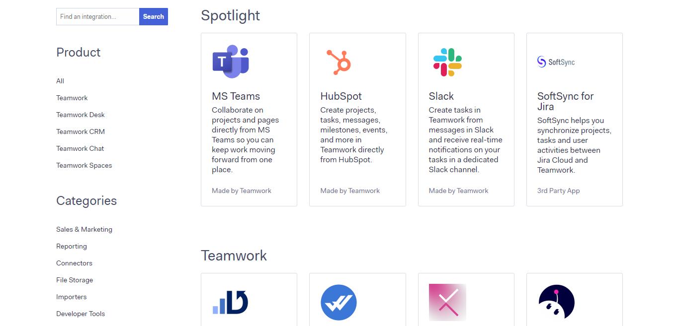 Teamwork Integrations