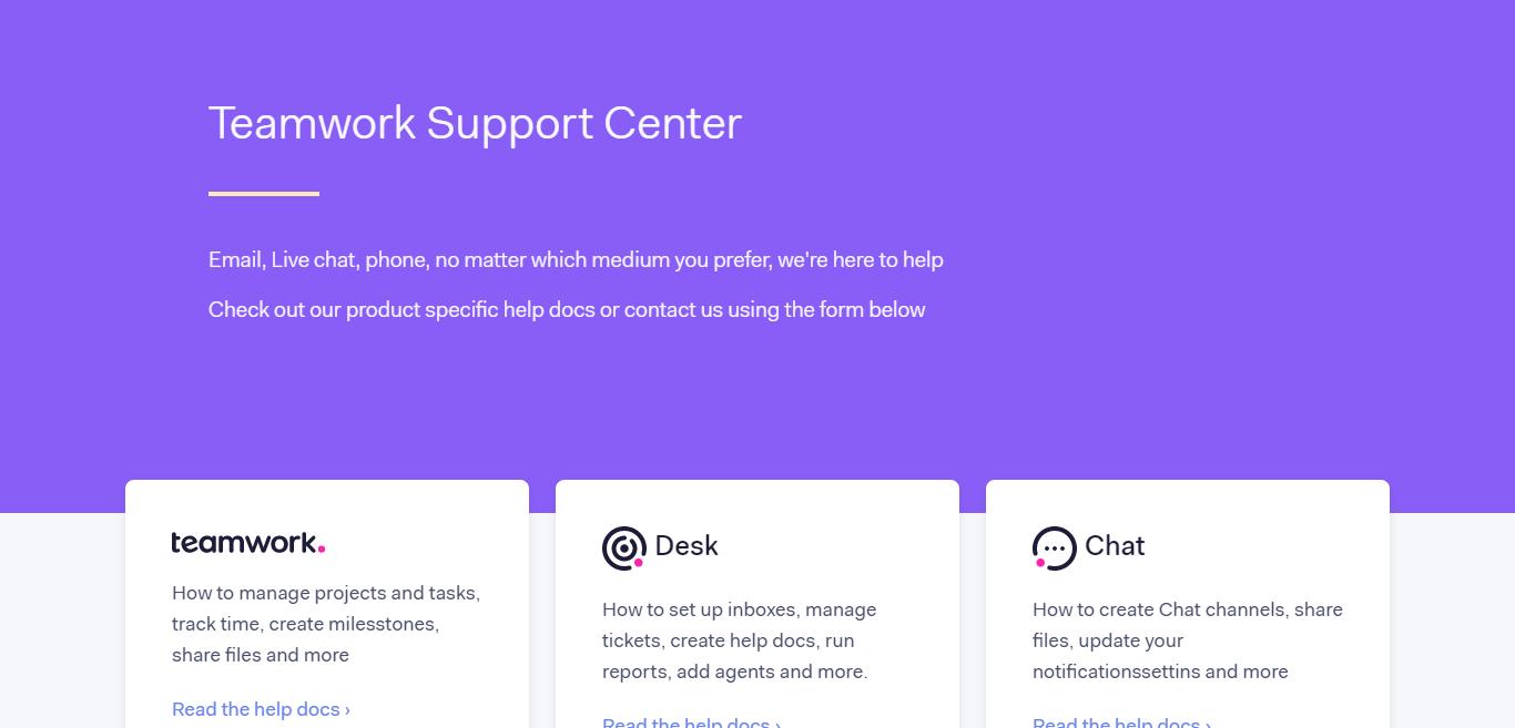 Teamwork Customer Support