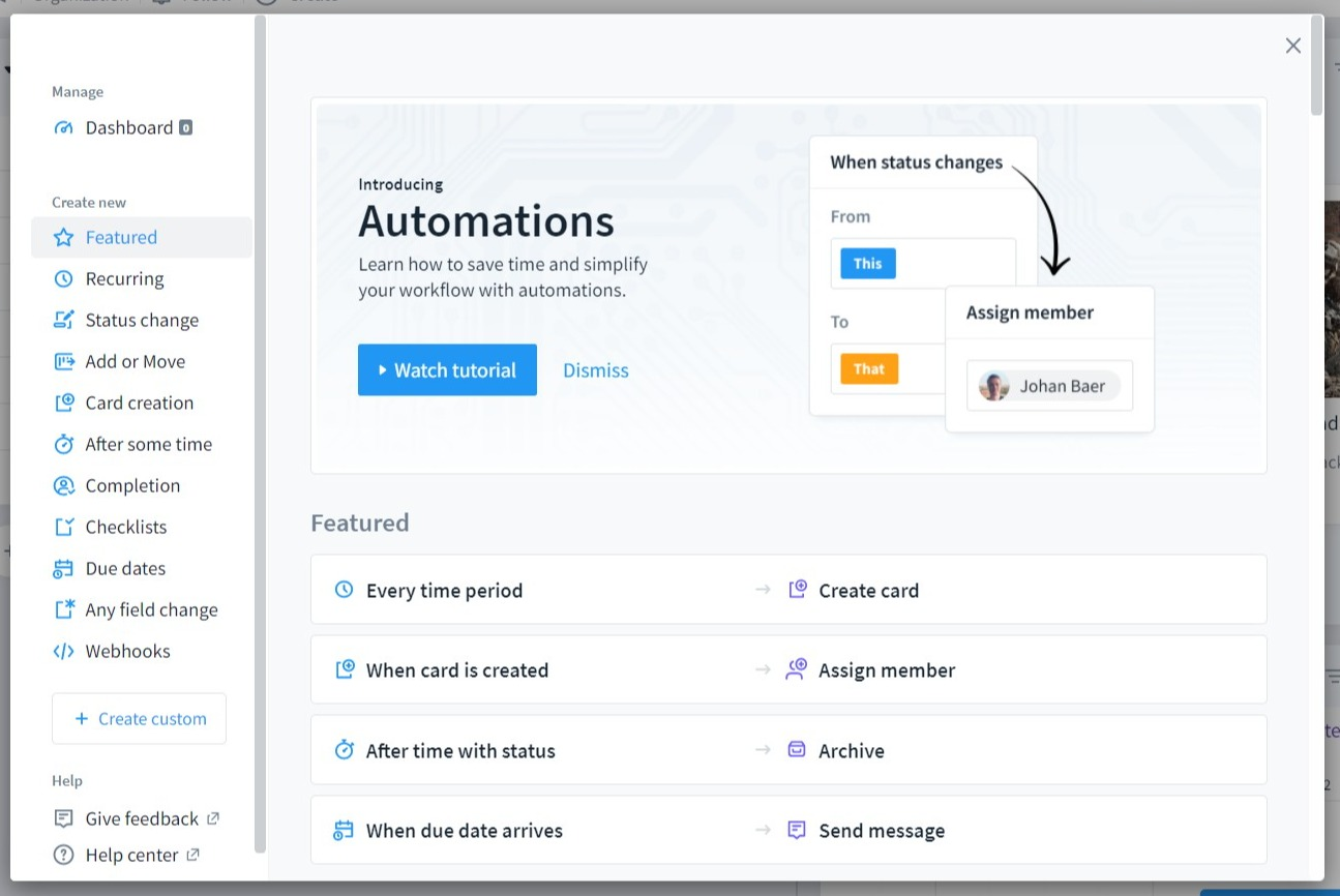 favro review automations