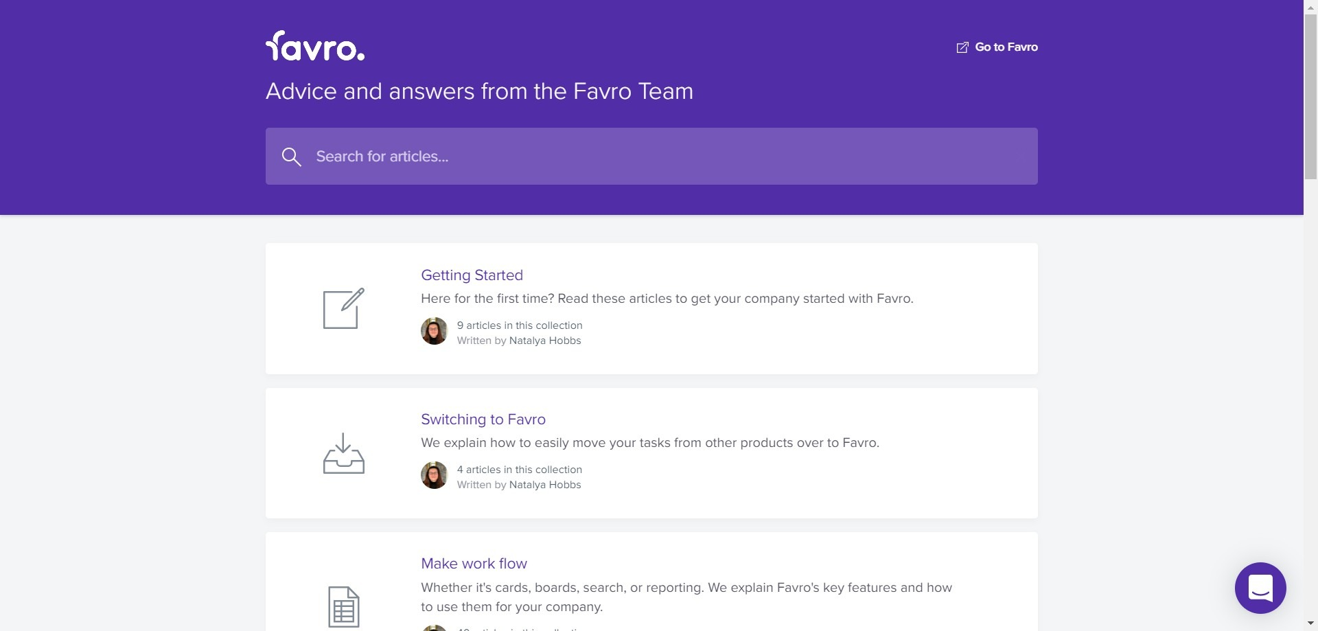 favro review support